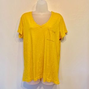 Madewell Mustard Yellow Classic Pocket T-Shirt